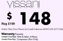 Vissani 52 Bottle Wine Cooler Warranty